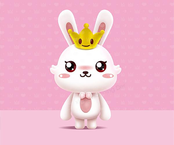 兔千金吉祥物设计
