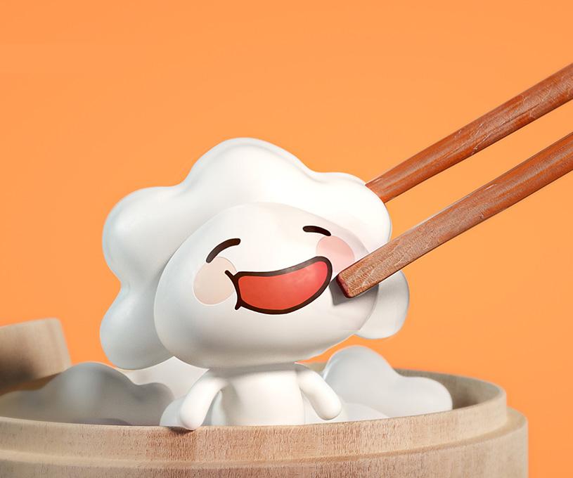 鲜上饺品牌IP吉祥物形象设计