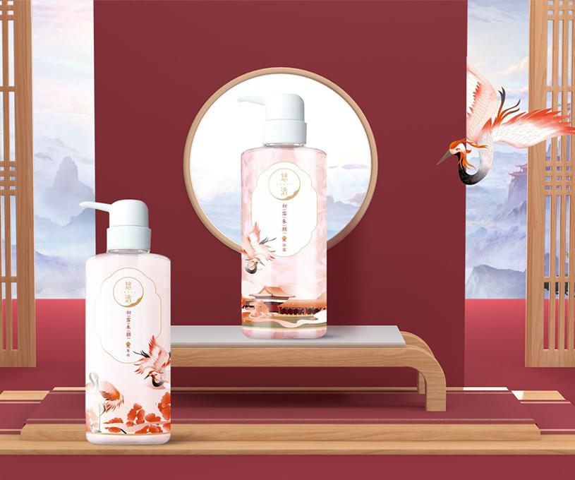 悠浴日化国风品牌策划设计