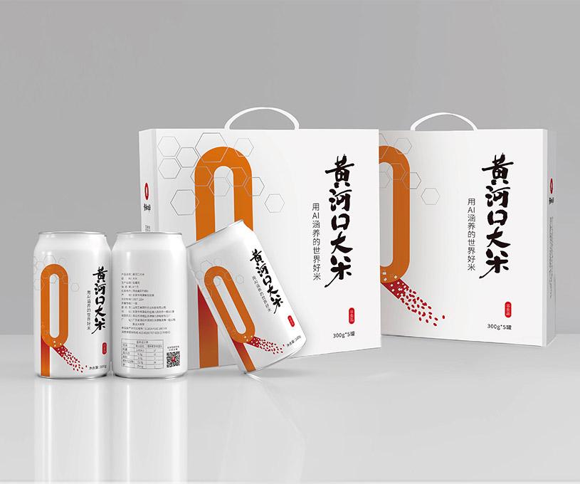 包装 | 艾米黄河口大米产品包装设计